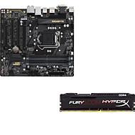 Gigabyte b250m-d3h płyta główna kingston hacker hordy ddr4 2400 8g pamięci