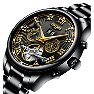Mens Wrist Watch Automatic Mechanical Watches Stainless Steel Strap Clock 30m Waterproof Relogio Masculino