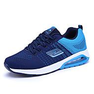 Masculino Tênis Conforto MaryJane Tule Primavera Verão Ar-Livre Casual Para Esporte Caminhada Cadarço Rasteiro Preto Laranja Azul Rasteiro