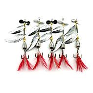 5 pçs Iscas Buzzbait & Spinnerbait Colheres Isco de Metal g/Onça mm polegadaPesca de Mar Pesca Voadora Isco de Arremesso Rotação Pesca