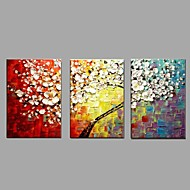 Hand Painted Oil Painting Knife Cherry blossoms Flower Wall Art Home Office Decor with Stretched Framed Ready to Hang