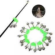 10X Green Fishing Double bells Sea Fishing Jigging Freshwater Carp Fishing Clip Rod Bite Alarm Fishing Bells