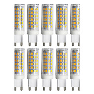 YWXLight® 10pcs Dimmable G9 9W 88LED 2835SMD 750-850 Lm Warm White/Cool White/Natural White LED Ceramics Lamp AC 220-240V