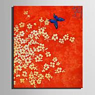 Peint à la main A fleurs/Botanique Format Vertical,Rétro Un Panneau Toile Peinture à l'huile Hang-peint For Décoration d'intérieur
