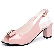Damen Sandalen Komfort Gummi Sommer Walking Komfort Schnalle Block Ferse Weiß Schwarz Rosa Unter 2,5 cm