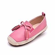 女の子 フラット 赤ちゃん用靴 レザーレット 春 秋 カジュアル ウォーキング 赤ちゃん用靴 面ファスナー ローヒール グレー ピンク カーキ色 フラット