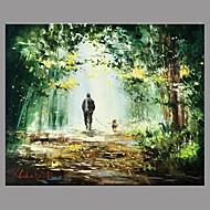Kézzel festett Landscape Retro Egy elem Vászon Hang festett olajfestmény For lakberendezési