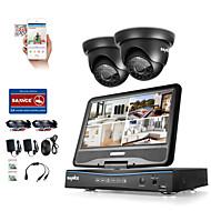 Sannce® 4ch 1080p DVR met lcd weerbestendig beveiligingssysteem ondersteund 720p analoge ahd tvi ip camera zonder hdd