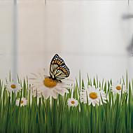 Window Film Window Decals Style Flowers Dull Polish PVC Window Film - (60 x 58)cm