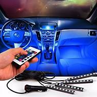 자동차 환경 램프 무선 원격 제어 인테리어 바닥 장식 발 빛 주변 rgb 네온 램프 스트립