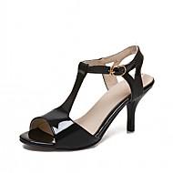 Ženske Sandale Umjetna koža PU Ljeto Jesen Hodanje Kopča Stiletto potpetica Obala Crn Pink 5 cm - 7 cm