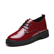 Women's Boots Comfort Patent Leather Spring Fall Casual Outdoor Office & Career Comfort Flat Heel Ruby Black Flat