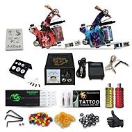 Kompletan Tattoo Kit 2 Tattoo Machines Analogni napajanja Tinte dostavljaju odvojeno