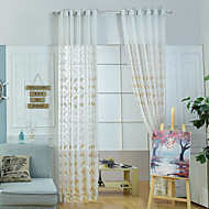 Ablak kezelése Mintás Rusztikus , Hímzett Nappali szoba Anyag Sheer Függöny Shades lakberendezési For Ablak