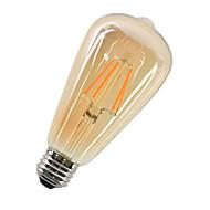 4W LED-hehkulamput ST64 4 COB 360 lm Lämmin valkoinen Koristeltu AC 220-240 V 1 kpl E27