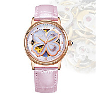 Women's Fashion Watch Mechanical Watch Automatic self-winding Water Resistant / Water Proof PU Band Black White Red Brown Pink Purple