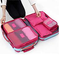 6pcs Geantă Călătorie Cuburi Colete Organizator Împachetare Impermeabil Rezistent la Praf Durabil Pliabil pentru Depozitare Călătorie
