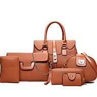Női táska pu all seasons alkalmi téglalap cipzár barna szürke fekete arany
