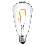 tasarruf 4w E27 ST64 bağbozumu led edison ampul flamanlı ampul enerji 4w LED-40w eşdeğer (220-240v)