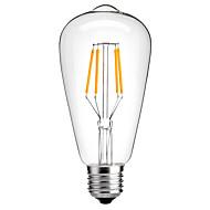 4W Ε27 st64 εκλεκτής ποιότητας οδήγησε Edison λάμπα πυράκτωσης λαμπτήρες εξοικονόμησης ενέργειας 4W LED- 40W ισοδύναμο (220-240V)