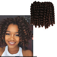 Pre-Schleife Crochet Borten Havanna Gehäkelt Locken Federnd Locken Jamaikanisches Bounce Hair ChinaRotbraun Schwarz / Strawberry Blonde