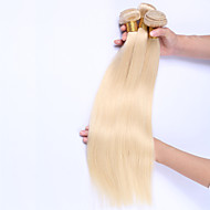 Emberi haj Brazil haj Precolored Hair sző Egyenes Póthajak 3 darab Blonde