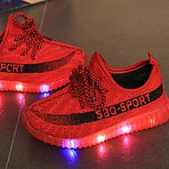 Djevojčice Sneakers Cipele za bebe Svjetleće tenisice Til Ljeto Jesen Kauzalni Cipele za bebe Svjetleće tenisice LED Niska potpeticažuta