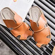 Herre-Nappa Lær-Flat hæl-Komfort-Sandaler-Friluft-Hvit Svart Brun