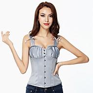 Damen Brustkorsett Übergröße Nachtwäsche,Retro Sexy Push-Up Sport Solide