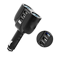 Rocketek car charger Smart IC 3.1A Quick QC 3.0 USB phone Adapter Cigarette Lighter Splitter car-charger Compatible with QC 2.0 CC23