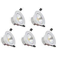 LED Χωνευτό Σποτ Θερμό Λευκό Ψυχρό Λευκό LED 5 τμχ