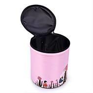 Damen Aufbewahrungstasche Nylon Ganzjährig Normal Barrel Bag Reißverschluss Rosa Grau