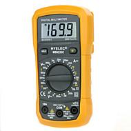 hyelec multifunções ms8233c mini-multímetro digital w / teste de temperatura& luz de volta