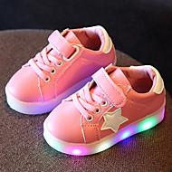 Fille Chaussures Cuir Tulle Printemps Eté Automne Chaussures Lumineuses Basket Marche LED Pour Décontracté Blanc Noir Vert clair Rose
