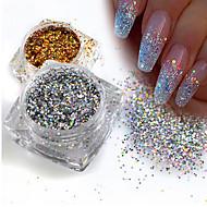 1g/Bottle Fashion Gorgeous Gold/Silver DIY Sparkling Paillette Mini Hexagon Shape Laser Shining Nail Art Glitter 3D Tips Nail Manicure Sequins 025T