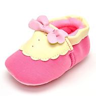 Baby Platte schoenen Comfortabel Weefsel Lente Herfst Bruiloft Causaal Formeel Feesten & Uitgaan Comfortabel Strik Platte hak Roze Plat
