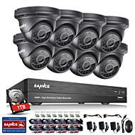 Sannce® 8ch système de sécurité cctv 1080p ahd / tvi / cvi / cvbs / ip 5-en-1 dvr avec caméras 8pcs 2.0mp 1tb hdd