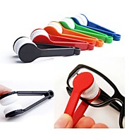 2 kpl mini kannettavat lasit harjat silmälasit aurinkolasit silmälasit mikrokuitupuhdistin harjat lasi siivousvälineet satunnainen väri