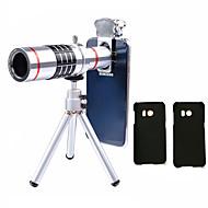 Lingwei 18x zoom samsung kamera teleobjektiv vidvinkel linse / stativ / telefonholder / hard taske / taske / rengøringsdug (samsung s8 /