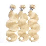 Emberi haj Brazil haj Precolored Hair sző Hullámos haj Póthajak 3 darab Blonde
