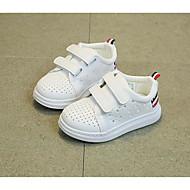 男の子 フラット 赤ちゃん用靴 レザーレット 春 秋 カジュアル ウォーキング 赤ちゃん用靴 面ファスナー ローヒール ブラック フラット