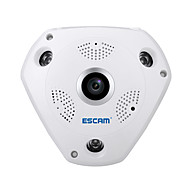 Escam® requin qp180 hd 960p h.264 1.3mp Support de caméra infrarouge fisheye panoramique à 360 degrés vr box