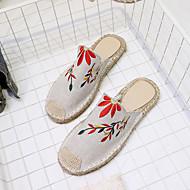 Damen Sandalen Komfort PU Frühling Sommer Normal Kleid Blockabsatz Weiß Dunkelblau Grün Khaki 2,5 - 4,5 cm