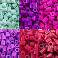 ca. 500 stuks / zak 5mm zekering kralen hama kralen diy puzzel eva materiaal safty voor kinderen (assorti kleur 6, B38-B43)