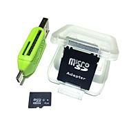 4gb microsdhc tf карта памяти с 2 в 1 usb otg card reader micro usb otg
