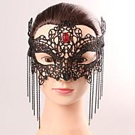 Musta naamio seksikäs pitsi halloween osapuoli fancy pitsi naaras tupsu kristalli naamio alusvaatteet pitsi maski osapuoli