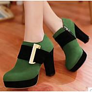 Damen High Heels Komfort PU Frühling Normal Schwarz Rot Grün 7,5 - 9,5 cm