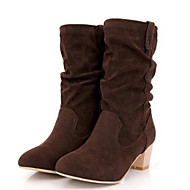 Women's Shoes PU Fall Winter Comfort Fashion Boots Boots With For Casual Black Gray Brown