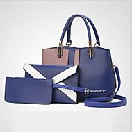 Mulher Bolsas Todas as Estações Couro Ecológico Conjuntos de saco com para Casamento Festa/Eventos Casual Formal Azul Preto Cinzento