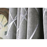 Ablak kezelése Modern/kortárs , Csíkos Nappali szoba Anyag Sötétítőfüggöny Drapes lakberendezési For Ablak